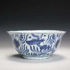 青花鱼藻纹大碗