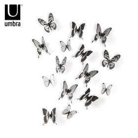 umbra创意欧式蝴蝶墙贴墙饰挂件客厅卧室儿童房电视墙田园温馨