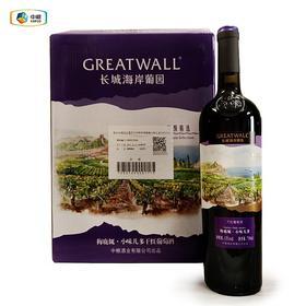 【高档红酒】 长城海岸葡园高级精选梅鹿辄*小味儿多干红葡萄酒