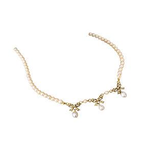 地中海珍珠  优雅蝴蝶项链