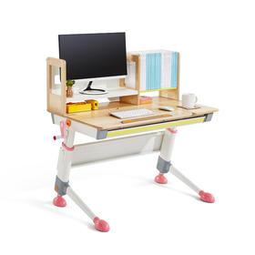 2平米骑士 天然实木可升降儿童学习桌椅套装 书桌