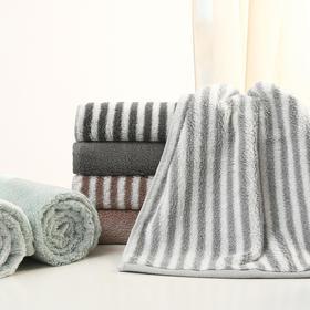 大朴[2条装]纯棉阿瓦提毛巾加大加厚擦脸面巾吸水条纹纯色不掉毛