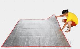 猎户座-加厚便携露营铝膜防潮垫2m*2m银色