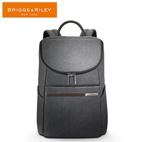 BRIGGS&RILEY蓝色/灰色商务系列休闲双肩包U口时尚双肩包