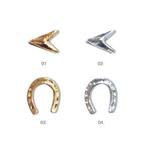 金属铆钉美甲饰品 三角 马蹄莲 4色可选100颗/袋