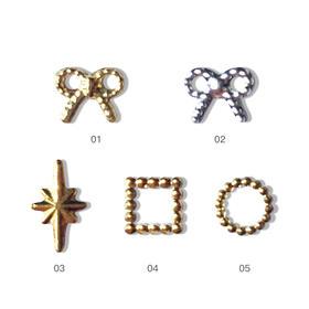 金属铆钉美甲饰品 5款可选 500颗/袋