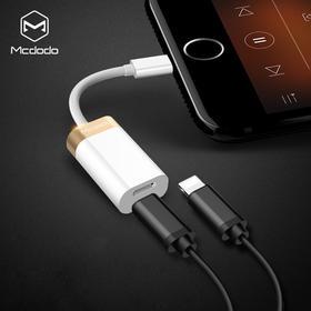 Mcdodo  麦多多苹果7/7plus耳机+充电双路转接头线 充电听歌二合一 可通话
