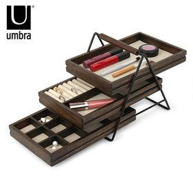 umbra木质首饰盒家用欧式珠宝展示架创意饰品收纳北欧复古首饰架