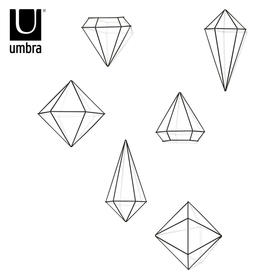Umbra墙饰创意组合客厅装饰挂件背景墙面几何菱形立体铁艺壁挂饰