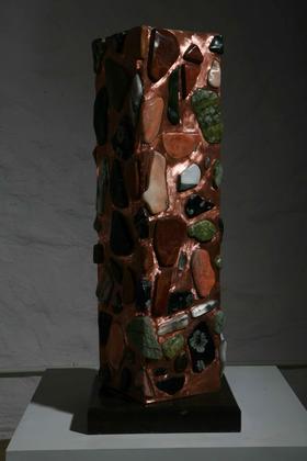 碑 / 红丝石、大理石、铜、花岗岩 / 100X30X30cm / 2008