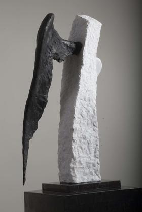 天生-3 / 汉白玉 、铜、花岗岩 / 44X36X87cm / 2008