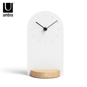 Umbra有时台钟欧式客厅卧室简约时钟创意钟表摆件个性实木座钟