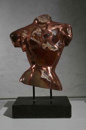 India / 红丝石、铜、花岗岩 / 45X26X74cm / 1996