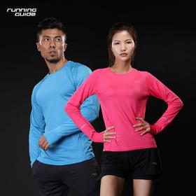 跑步指南P122 跑步运动速干长袖T恤