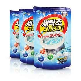 【韩国原装进口】세탁조洗衣机清洗粉,除菌率达99.99% 快速高效去污,安全杀毒无刺激