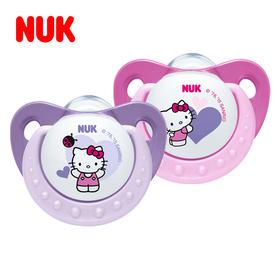 NUK德国进口 安睡型Hello Kitty印花硅胶安抚奶嘴0-6  6-18个月