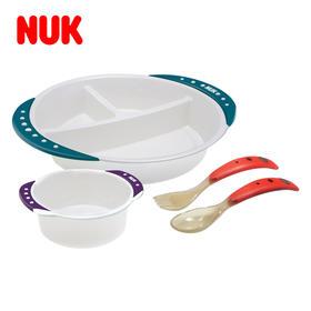 NUK德国进口 防滑学习餐具组 学习餐盘学习小碗 勺子汤匙一套