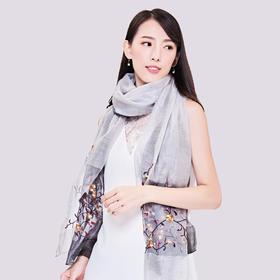 月笼纱丝巾礼盒 | 真丝羊毛,复古刺绣,气质典雅