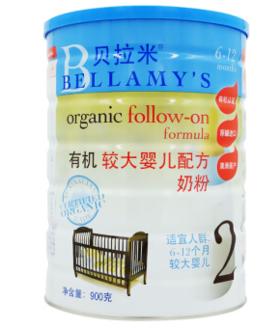 贝拉米 有机较大婴儿配方奶粉2段 赠品