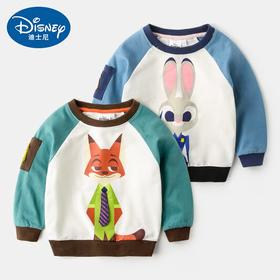 迪士尼童装2儿童男童外套3岁女童衣服4婴儿宝宝秋装5长袖卫衣小童