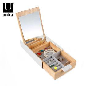 加拿大umbra创意欧式滑盖首饰盒木制简约现代公主首饰收纳盒