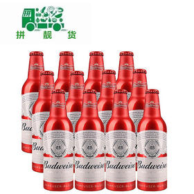 百威铝瓶啤酒355ml*24瓶