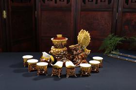 窑变茶具套装 大展鸿图复古陶瓷自动茶具