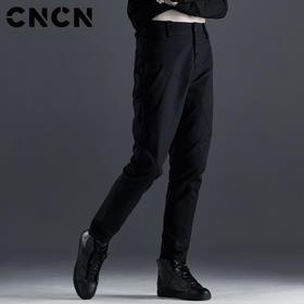 CNCN男装 秋季纯棉男士休闲裤 高档显瘦直筒男裤CNCK39086