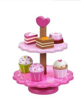 德国Classicworld可来赛 过家家玩具 蛋糕架套装 女宝玩具