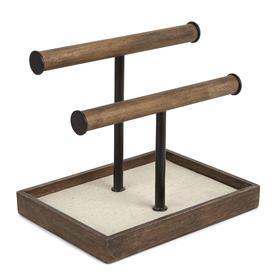umbra木质首饰盒耳环戒指项链收纳架 简约创意装饰展示树梳妆台