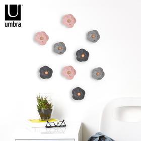umbra创意毛毡花朵立体墙饰 墙上装饰品壁挂件 田园墙面墙壁壁饰