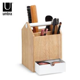 Umbra创意托托加高收纳盒欧式实木多功能珠宝首饰盒木质化妆盒