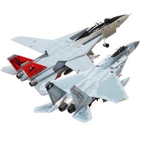 【空战双雄F-14/15】1:100 F-14雄猫战斗机    F-15鹰式战斗机模型