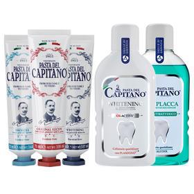 德康美(CAPITANO)牙膏 漱口水 (去牙渍烟渍)意大利原装进口