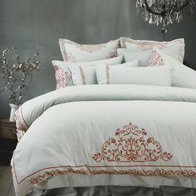 五星级酒店床上四件套全棉纯棉60支绣花1.8m床双人被套床单