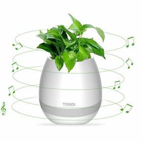 【黑科技花盆】可弹琴会唱歌的音乐多肉绿植花盆蓝牙防水音箱