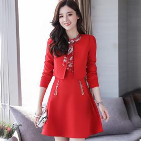 时尚印花两件套裙  XPH9A2