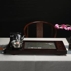 茶语工坊黑檀茶盘