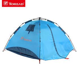 探路者户外帐篷野外露营装备3-4人免搭速开帐篷TEDE90842