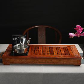 福字花梨木茶盘