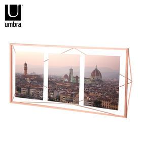 umbra 简约立体菱形相框现代欧式创意玻璃画框金属不规则摆台相架