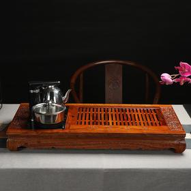 古道茶风花梨木茶盘