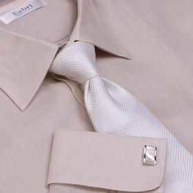 Eabri仕族亚麻法式衬衫商务修身衬衣夏季透气男式休闲衬衫
