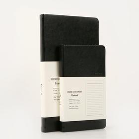 """读者·书房""""moment""""黑色皮面通款笔记本(C6\C7 两种尺寸)"""