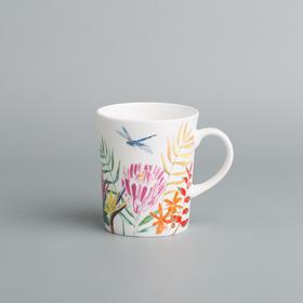 Reiki系列彩绘蜻蜓骨瓷马克杯