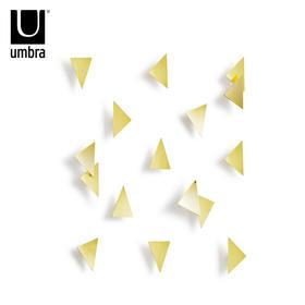 Umbra创意康菲提三角墙饰可移除立体金属墙贴客厅卧室墙壁装饰品