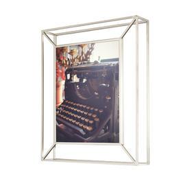 umbra创意立体矩形相框欧式简约全玻璃画框 金属摆台不规则相片架