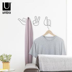 umbra巧手挂钩创意个性壁挂不锈钢衣帽钩现代简约墙面装饰挂衣钩