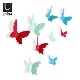 umbra蝴蝶百合墙饰可移除客厅家居酒吧墙面创意壁饰墙上装饰品