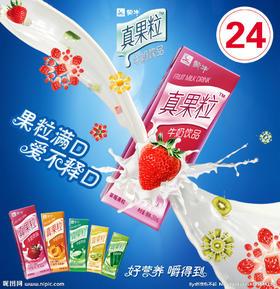 蒙牛真果粒牛奶饮品250g×12)
